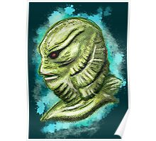 Creature from the black lagoon splatter Poster