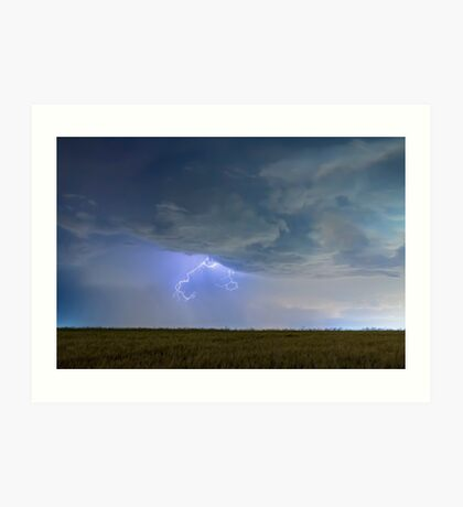 Lightning Clawing Out Of The Sky Art Print