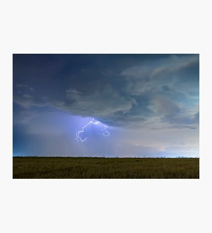 Lightning Clawing Out Of The Sky Photographic Print