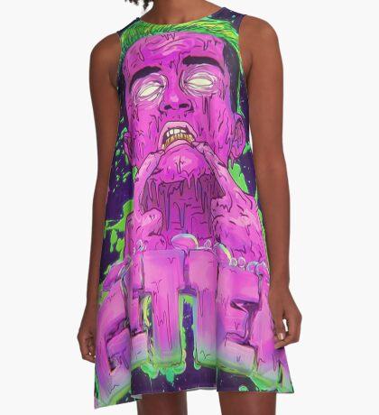 Pink Grime GETTER A-Line Dress