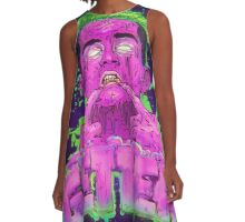 Pink Grime GETTER A-Line Dress