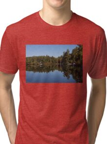 Lakeside Cottage Living - Reflecting on Relaxation Tri-blend T-Shirt