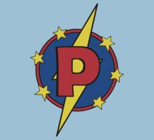My Cute Little Super Hero - Letter P Kids Tee