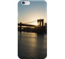 Soaring - Brooklyn Bridge Sunrise with a Seagull iPhone Case/Skin