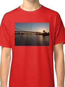 Soaring - Brooklyn Bridge Sunrise with a Seagull Classic T-Shirt