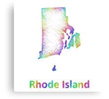 Rainbow Rhode Island map Canvas Print