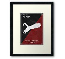 House Alpha Framed Print
