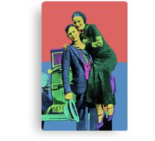 Bonnie and Clyde 2 Canvas Print