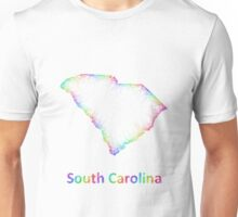 Rainbow South Carolina map Unisex T-Shirt