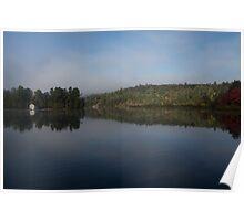 Lakeside Cottage Living - Gentle Morning Fog Poster