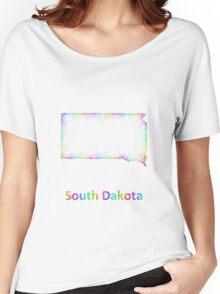 Rainbow South Dakota map Women's Relaxed Fit T-Shirt