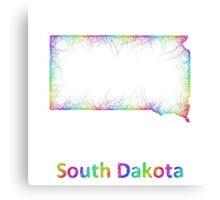 Rainbow South Dakota map Canvas Print