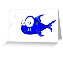Silly Shark Greeting Card