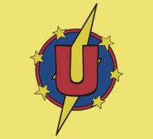My Cute Little Super Hero - Letter U Kids Tee