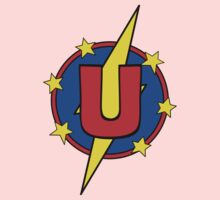 My Cute Little Super Hero - Letter U Baby Tee