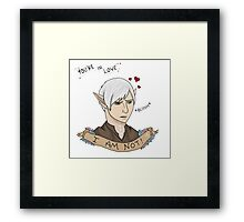 Fenris In Love - Dragon Age II Fanart Framed Print