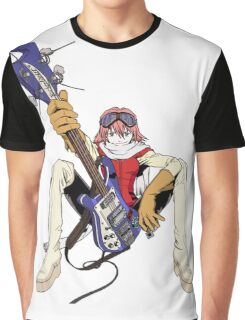FLCL fooly cooly anime Haruko Haruhara Graphic T-Shirt