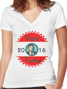 2016 US Elections Vote for Donald Trump Women's Fitted V-Neck T-Shirt