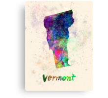 Vermont US state in watercolor Canvas Print