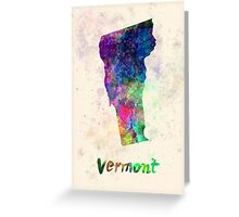 Vermont US state in watercolor Greeting Card