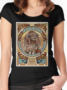 Labyrinth Art Nouveau Tribute Women's Fitted Scoop T-Shirt