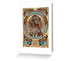 Labyrinth Art Nouveau Tribute Greeting Card