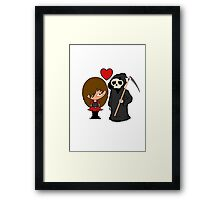 A romance made till death Framed Print