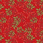 Red rowan pattern. by smalldrawing