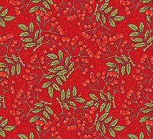 Red rowan pattern. by smalldrawing