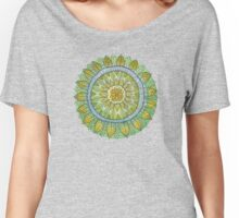 Green Leaves Mandala  Women's Relaxed Fit T-Shirt