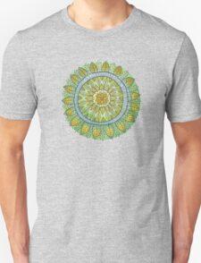 Green Leaves Mandala  Unisex T-Shirt