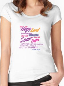 Bible Verse Isaiah 40:31 Women's Fitted Scoop T-Shirt