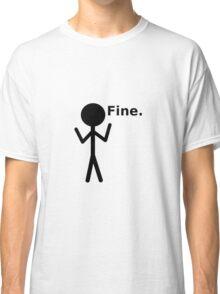 Fine Stick Figure Classic T-Shirt