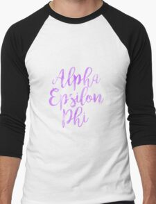aephi alpha epsilon phi watercolor sorority sticker greek Men's Baseball ¾ T-Shirt