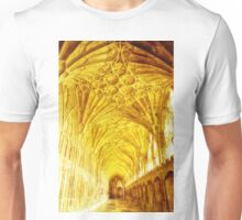 Golden Cloisters at Gloucester Cathedral. Unisex T-Shirt
