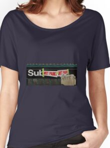 subway entrance Women's Relaxed Fit T-Shirt