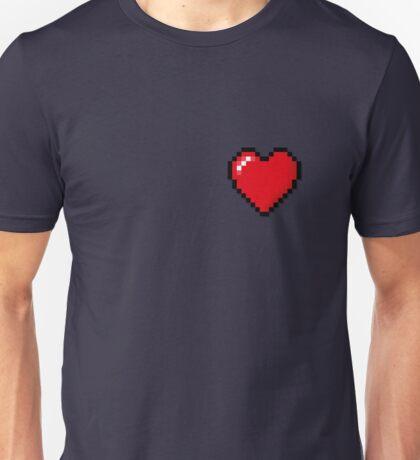 8 Bit Pixel Love Heart Unisex T-Shirt