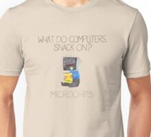 What do computers snack on? Unisex T-Shirt