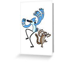 The Regular Show Greeting Card