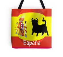 Spanish Flag With Bull Tote Bag