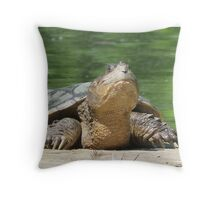 Giant Snapping Turtle Throw Pillow