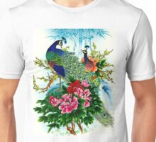 """PEACOCKS IN PARADISE: Art Deco Print Unisex T-Shirt"
