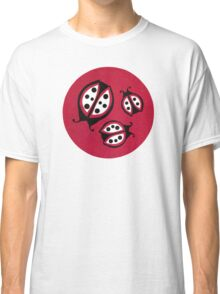 Retro Ladybugs Vintage Insects Red Black & White Bugs Classic T-Shirt