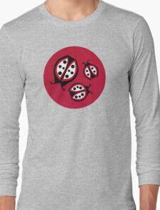 Retro Ladybugs Vintage Insects Red Black & White Bugs Long Sleeve T-Shirt