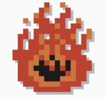 8 Bit Pixel Flame Kids Tee