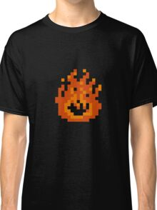 8 Bit Pixel Flame Classic T-Shirt