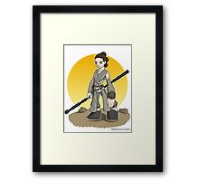 Rey The Force Awakens Apparel Framed Print