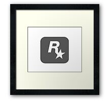 Rockstar Logo Grey Framed Print