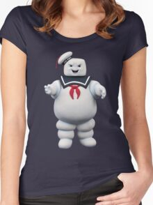 Stay-Puft Marshmallow Man Women's Fitted Scoop T-Shirt