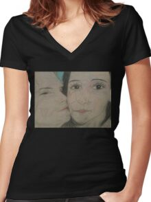 Love Kisses (Through time) Women's Fitted V-Neck T-Shirt